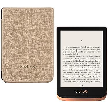 """Vivlio Touch HD Plus Cuivre/Noir + Pack d'eBooks OFFERT + Housse Chinée Dorée Liseuse eBook Wi-Fi - Écran tactile HD 6"""" 1072 x 1448 - 16 Go - Portrait/Paysage - Résistante à l'eau - Pack eBooks offert + Housse de protection"""
