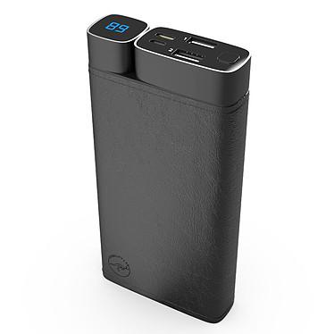 Mobility Lab Powerbank Cuir 20000 mAh (Noir) Chargeur de batterie externe 20000 mAh avec ports USB-A / USB-C et finition en simili cuir
