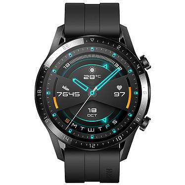 """Huawei Watch GT 2 (46 mm / Fluoroélastomère / Noir) Montre connectée - Étanche 50 m - GPS/GLONASS - Cardiofréquencemètre - Écran AMOLED de 1.39"""" -  454 x 454 pixels - 4 Go - Bluetooth 5.0 - Lite OS - Bracelet sport 46 mm"""