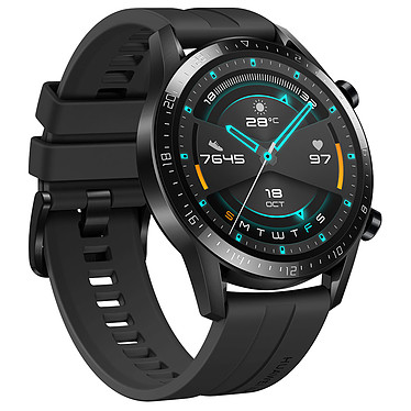Avis Huawei Watch GT 2 (46 mm / Fluoroélastomère / Noir)