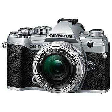 "Olympus E-M5 Mark III Argent + 14-42 mm Argent Appareil photo hybride 20.4 MP Micro 4/3 - Écran tactile orientable 3"" - Viseur OLED - Vidéo C4K/4K UHD - Stabilisation 5 axes - Wi-Fi/Bluetooth - Tropicalisation + Objectif M. Zuiko Digital ED 14-42 mm f/3.5-5.6 EZ Pancake"