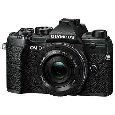 "Olympus E-M5 Mark III Noir + 14-42 mm Noir Appareil photo hybride 20.4 MP Micro 4/3 - Écran tactile orientable 3"" - Viseur OLED - Vidéo C4K/4K UHD - Stabilisation 5 axes - Wi-Fi/Bluetooth - Tropicalisation + Objectif M. Zuiko Digital ED 14-42 mm f/3.5-5.6 EZ Pancake"