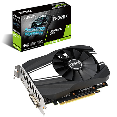 ASUS GeForce GTX 1660 SUPER PH-GTX1660S-O6G 6 Go GDDR6 - DVI/HDMI/DisplayPort - PCI Express (NVIDIA GeForce GTX 1660 SUPER)