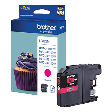 Brother LC123M (Magenta) Cartouche d'encre magenta (600 pages à 5%)