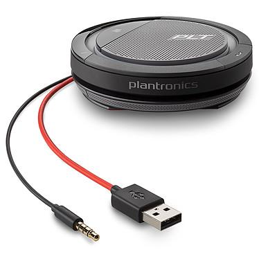 Plantronics Calisto 5200 USB-A Haut-parleur de conférence avec micro, batterie rechargeable, USB et Jack 3.5 mm (PC/MAC/Tablette/Smartphone)