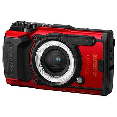 "Olympus TG-6 Rouge + LG-1 Appareil photo baroudeur 12 MP - Zoom grand-angle 4x - Vidéo 4K - Ecran LCD 3"" - GPS/Boussole - Wi-Fi + Guide de lumière photo macro"