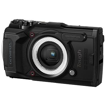 "Olympus TG-6 Noir + LG-1 Appareil photo baroudeur 12 MP - Zoom grand-angle 4x - Vidéo 4K - Ecran LCD 3"" - GPS/Boussole - Wi-Fi + Guide de lumière photo macro"
