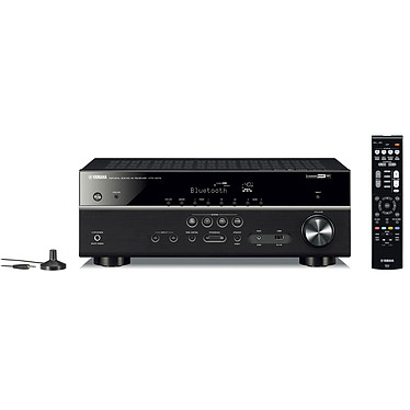 Yamaha HTR-4072 Noir Ampli-tuner Home Cinéma 5.1 (equiv RX-V485) 3D 80 W/canal - Dolby TrueHD / DTS-HD Master Audio - 4x HDMI 2.0 HDCP 2.2 - HDR 10/Dolby Vision/HLG - Bluetooth/Wi-Fi/AirPlay - MusicCast - Calibration YPAO