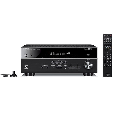 Yamaha HTR-6072 Noir Ampli-tuner Home Cinéma (equiv : RX-V685) 7.2 3D 90 W/canal - Dolby Atmos / DTS:X - 5 entrées HDMI 2.0 HDCP 2.2 - HDR 10/Dolby Vision/HLG - Bluetooth/Wi-Fi/AirPlay - MusicCast - Calibration YPAO - Zone 2