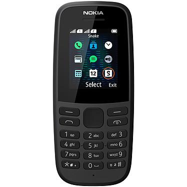 "Nokia 105 2019 Dual SIM Noir Téléphone 2G Dual SIM - RAM 4 Mo - Ecran 1.77"" 128 x 160 pixels - 4 Mo - 800 mAh"