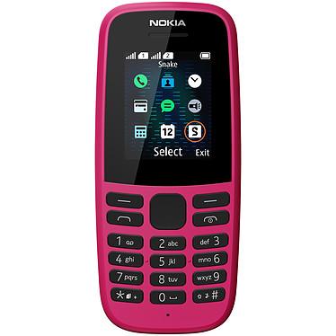 """Nokia 105 2019 Dual SIM Rose Téléphone 2G Dual SIM - RAM 4 Mo - Ecran 1.77"""" 128 x 160 pixels - 4 Mo - 800 mAh"""