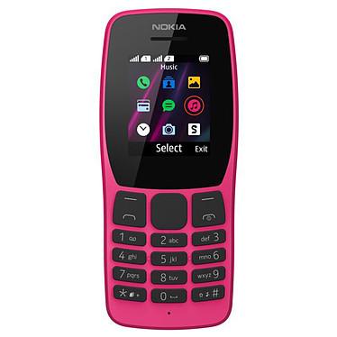 """Nokia 110 2019 Dual SIM Rose Téléphone 2G Dual SIM - RAM 4 Mo - Ecran 1.77"""" 120 x 160 pixels - 4 Mo - 800 mAh"""
