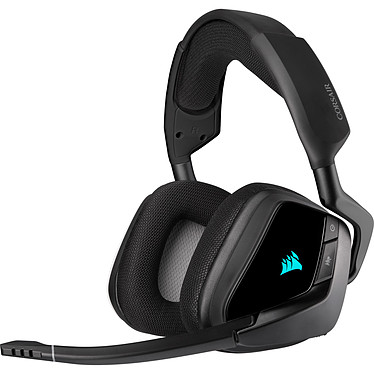 Corsair Gaming VOID Pro RGB ELITE Wireless (noir) Casque gaming - sans fil - son Surround 7.1 - micro antibruit - rétroéclairage RGB - certifié Discord