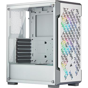 Corsair iCUE 220T RGB Airflow (Blanc) Boîtier Moyen Tour avec panneau en verre trempé et ventilateurs RGB