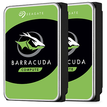 """Seagate BarraCuda 6 To (2x 3 To - ST3000DM007) Pack de deux disques dur 3.5"""" 3 To 5400 RPM 256 Mo Serial ATA 6 Gb/s (bulk)"""