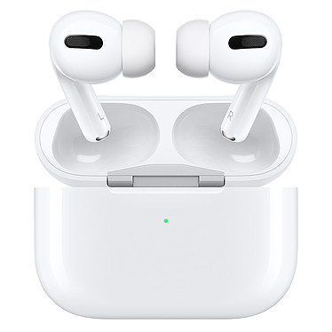 Apple AirPods Pro - Boîtier Charge Sans Fil Écouteurs intra-auriculaires True Wireless IPX4 - Bluetooth 5.0 - Réduction de bruit active - Commandes/Micro - Autonomie 24 heures - Boîtier de charge sans fil
