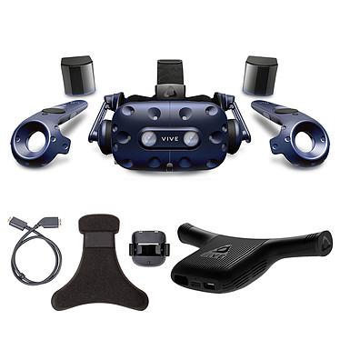 HTC Vive Pro Complete Edition + Wireless Adaptator + Wireless Adaptator Clip Casque de réalité virtuelle - kit VR complet + Adaptateur sans-fil + Clip
