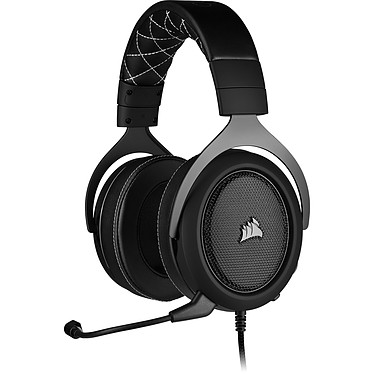 Corsair Gaming HS60 Pro (Negro) Auriculares Gaming con cable - Sonido Surround 7.1 (PC) - Micrófono con cancelación de ruido certificado por Discord - Compatible con PC / Playstation 4 / Xbox One / Switch / Mobile