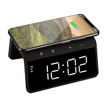 Avo+ Alarm Clock Horloge digitale avec emplacement charge sans fil 10W