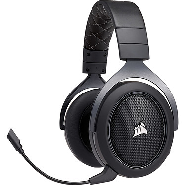 Gaming Corsair HS70 Pro Wireless (Negro) Auriculares Gaming inalámbricos - Sonido Surround 7.1 (PC) - Micrófono con cancelación de ruido certificado Discord - Compatible con PC / Playstation 4