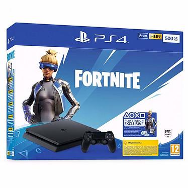 Sony PlayStation 4 Slim (500 Go) + Fortnite + 2ème DualShock Console de jeux-vidéo nouvelle génération avec disque dur 1 To et manette sans fil + jeu Fortnite + 2ème DualShock
