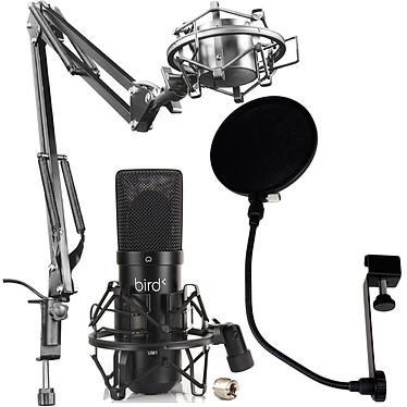 Bird UM1 + Trust Gaming GXT 253 Emita + Woodbrass PF01 Microphone USB statique électret à directivité cardioïde + Bras articulé avec support antivibration + Filtre anti-pop nylon avec tige flexible