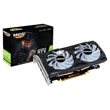 INNO3D GeForce RTX 2060 SUPER TWIN X2 OC RGB 8 Go GDDR6 - HDMI/Tri DisplayPort - PCI Express (NVIDIA GeForce RTX 2060 SUPER)