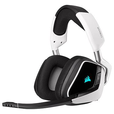 Corsair Gaming VOID Pro RGB ELITE Wireless (blanco) Auriculares Gaming- inalámbricos - sonido Surround 7.1 - micrófono con cancelación de ruido - retroiluminación RGB - certificado Discord