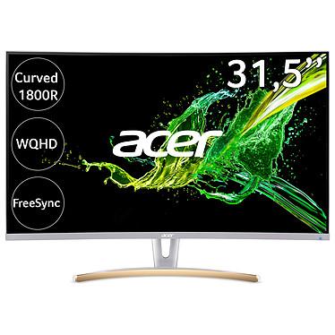 """Acer 31.5"""" LED - ED323QURwidpx - Blanc 2560 x 1440 pixels - 4 ms - Format large 16/9 - Dalle VA incurvée - FreeSync - 75 Hz - HDMI - DisplayPort - Blanc (Garantie constructeur 2 ans)"""
