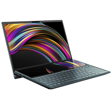 "ASUS ZenBook Duo UX481FA-BM017T avec ScreenPad Intel Core i5-10210U 16 Go SSD 512 Go 14"" Full HD Wi-Fi AX/Bluetooth Webcam Windows 10 Famille 64 bits"