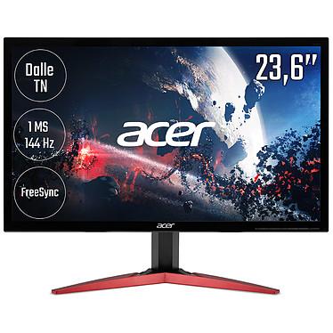 """Acer 23.6"""" LED - KG241QPbiip 1920 x 1080 pixels - 1 ms - Format 16/9 - AMD FreeSync - HDMI/DisplayPort - 144 Hz - Noir (Garantie constructeur 2 ans)"""