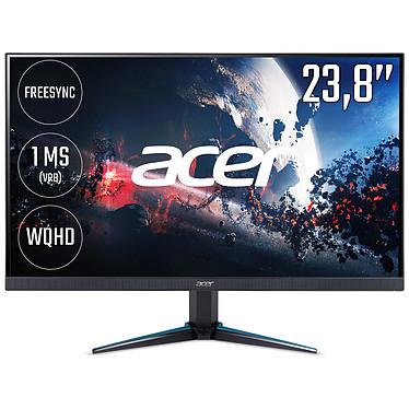 "Acer 24"" LED - Nitro VG240YUbmiipx 2560 x 1440 pixels - 1 ms - Format 16/9 - Dalle IPS - FreeSync - HDMI/DisplayPort - 75 Hz - Noir (Garantie constructeur 2 ans)"