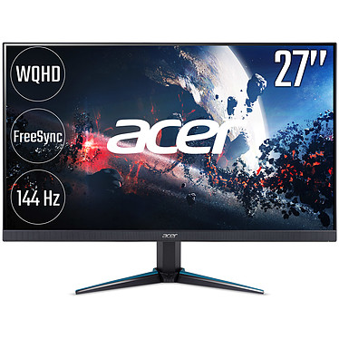 "Acer 27"" LED - Nitro VG270UPbmiipx 2560 x 1440 pixels - 1 ms - Format 16/9 - Dalle IPS - FreeSync - HDMI/DisplayPort - 144 Hz - Noir (Garantie constructeur 2 ans)"