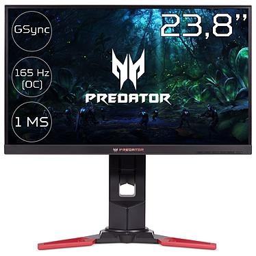 """Acer 24"""" LED - Predator XB241YUbmiprz 2560 x 1440 pixels - 1 ms (gris à gris) - Format 16/9 - 144 Hz - DisplayPort - HDMI - G-SYNC - Pivot - Noir (Garantie constructeur 2 ans)"""