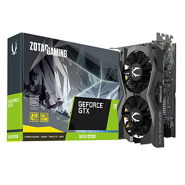 ZOTAC GeForce GTX 1650 SUPER Twin Fan 4 Go GDDR6 - HDMI/DisplayPort/DVI - PCI Express (NVIDIA GeForce GTX 1650 SUPER)