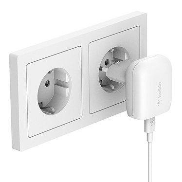 Acheter Belkin Chargeur Secteur Boost Charge USB-C 18W Boost Charge + Câble USB-C vers Lightning