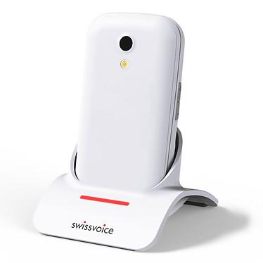 """SwissVoice S24 Blanc Téléphone 2G compatible prothèses auditives M4/T4 - Ecran 2.4"""" 240 x 320 - Bluetooth 2.1 - 800 mAh"""