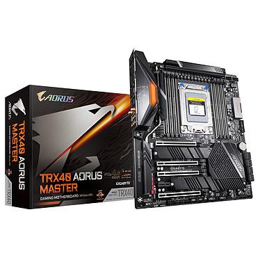 Gigabyte TRX40 AORUS MASTER Carte mère E-ATX Socket sTRx4 AMD TRX40 - 8x DDR4 - SATA 6Gb/s + M.2 - USB 3.1 - 5 GbE LAN - Wi-Fi 6 AX/Bluetooth 5.0 - 4x PCI-Express 4.0 16x