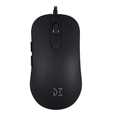 Dream Machines DM1 FPS (Raven Black)  Ratón con cable para pro gamer - diestro - sensor óptico 16000 dpi - 6 botones - retroiluminación RGB