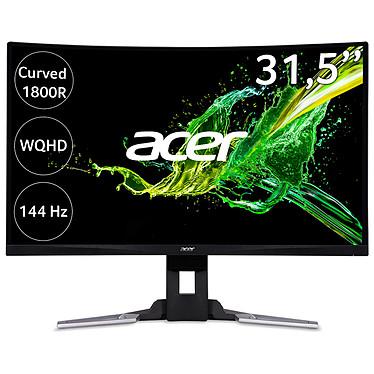 """Acer 31.5"""" LED - XZ321QUbmijpphzx 2560 x 1440 pixels - 4 ms (gris à gris) - Format large 16/9 - 144 Hz - Dalle VA incurvée - HDR - HDMI/DisplayPort - Hub USB 3.0 - FreeSync - Noir (Garantie constructeur 2 ans)"""