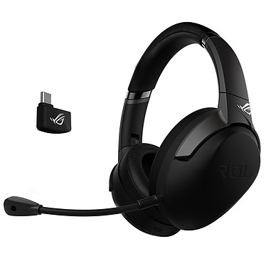 ASUS ROG Strix Go 2.4 Casque-micro sans fil Hi-Res Audio pour gamer (compatible PC / Mac / PS4 / Nintendo Switch)