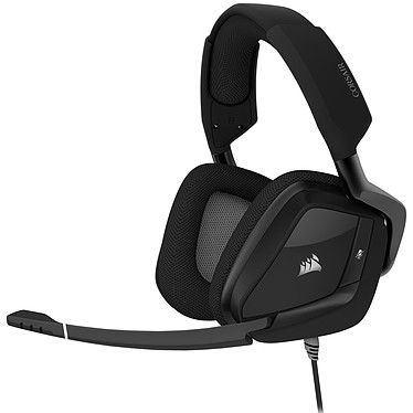 Corsair Gaming VOID RGB ELITE USB (Noir) Casque gaming filaire - Son surround 7.1 - Micro certifié Discord - Rétro-éclairage RGB