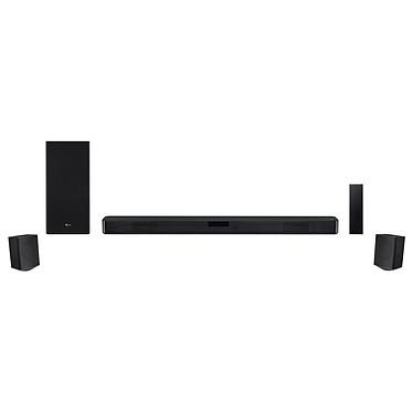 LG SL5-YR Barre de son 4.1 520 W - DTS Virtual:X - Hi-Res Audio - Bluetooth 4.0 - HDMI/USB - Caisson de basses et enceintes surround sans fil