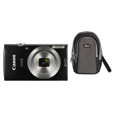 Canon IXUS 185 Noir + Lowepro Portland 30 Noir Appareil photo 20 MP - Zoom optique grand angle 8x - Vidéo HD + Étui flexible et léger