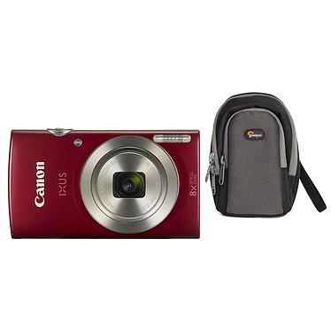 Canon IXUS 185 Rouge + Lowepro Portland 30 Noir Appareil photo 20 MP - Zoom optique grand angle 8x - Vidéo HD + Étui flexible et léger