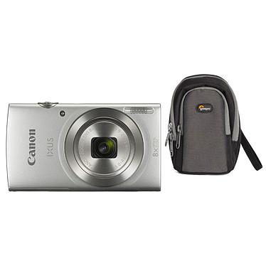 Canon IXUS 185 Argent + Lowepro Portland 30 Noir Appareil photo 20 MP - Zoom optique grand angle 8x - Vidéo HD + Étui flexible et léger