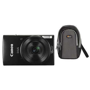 Canon IXUS 190 Noir + Lowepro Portland 30 Noir Appareil photo 20 MP - Zoom optique grand angle 10x - Vidéo HD - Wi-Fi - NFC + Étui flexible et léger