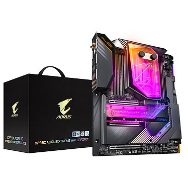 Gigabyte X299X AORUS XTREME WATERFORCE Carte mère E-ATX Socket 2066 Intel X299 Express - DDR4 - SATA 6Gb/s - M.2 - USB 3.1 - 3x PCI-Express 3.0 16x  - 10 GbE - WiFi 6 AX