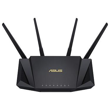 ASUS RT-AX58U Routeur sans fil WiFi 6 AX Dual Band 3000 Mbps (AX2402 + AX 574) MU-MIMO avec 4 ports LAN 10/100/1000 Mbps + 1 port WAN 10/100/1000 Mbps