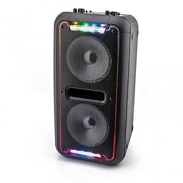Caliber HPA502BTL Enceinte portable 60W avec Bluetooth, éclairage LED multicolore, microphone filaire, télécommande et port USB